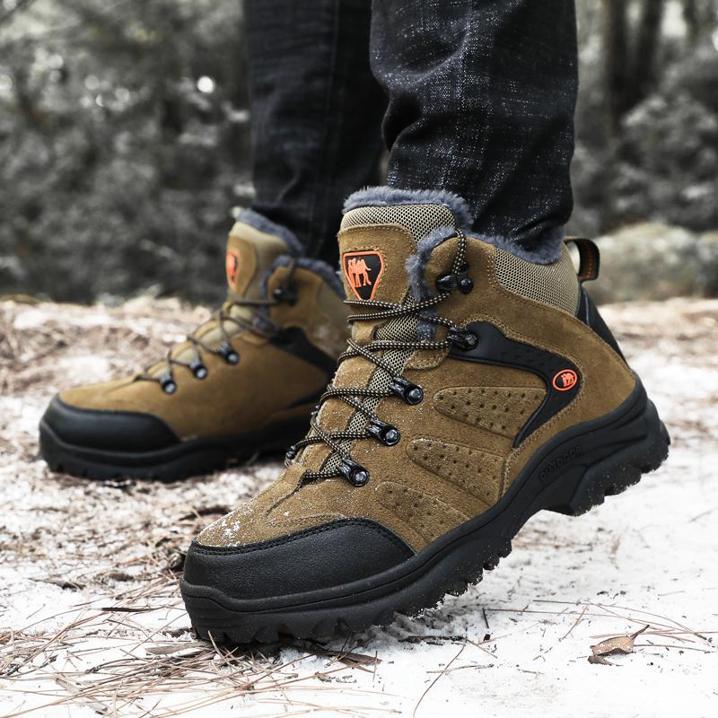 come trovare vendita calda online molti stili Scarpe da trekking invernali da uomo Scarpe da trekking Peluche High Top  Fashion Tattico Outdoor Alpinismo Sport Sneakers Stivali da caccia