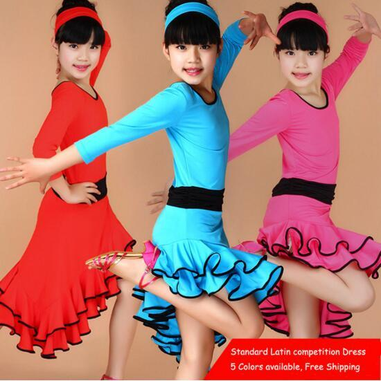 f6c270c9127d Latin Dance Dress For Girls Cocktail Ballroom Dancing Dress Girl ...