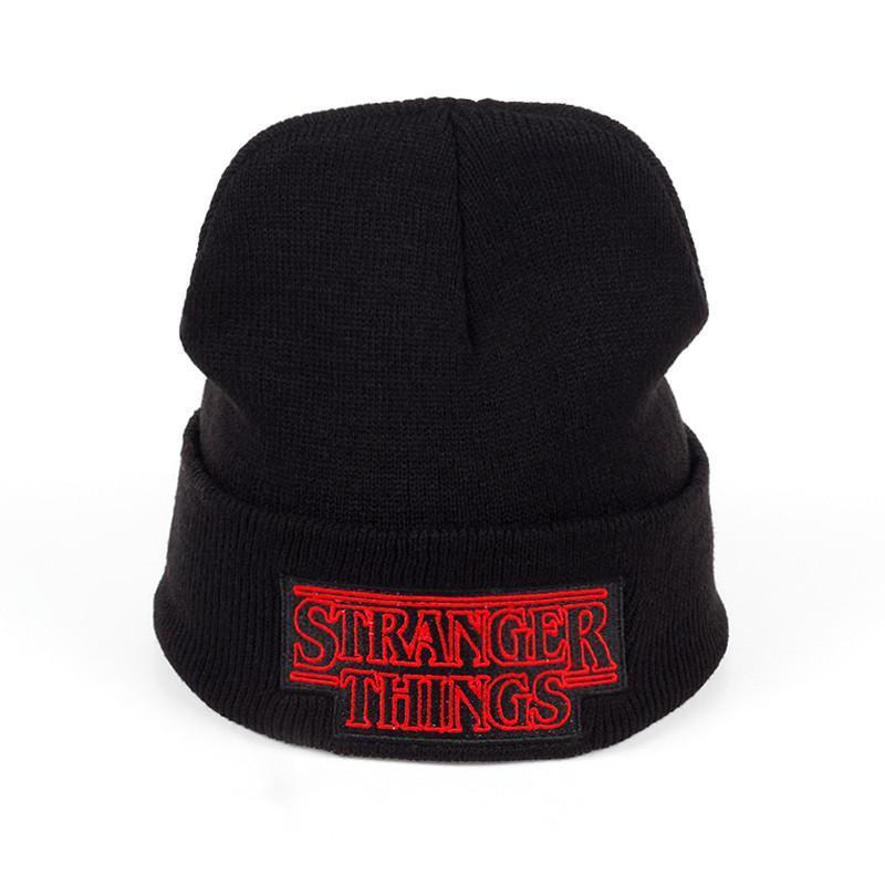 New Men Women Teenagers Warm Beanine Winter Hat Dustin Stranger Things  Dustin Black Knit Beanie Cap Hat For Men Women Youth Stetson Hats Trilby  From Zcy166 83ce2628a6