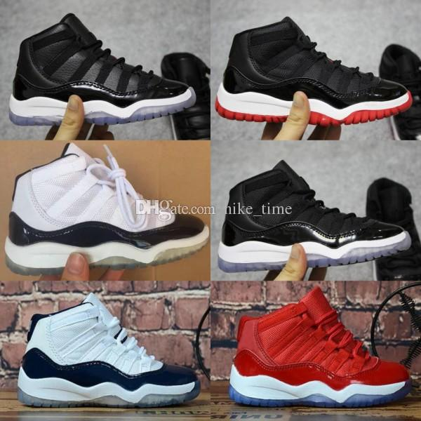 dde6e904a4d412 Kids 11 11s Space Jam Bred Concord Gym Red Basketball Shoes Children Boy  Girls 11s Midnight Navy White Pink Sneakers Toddlers Birthday Sneakers Men  Buy ...