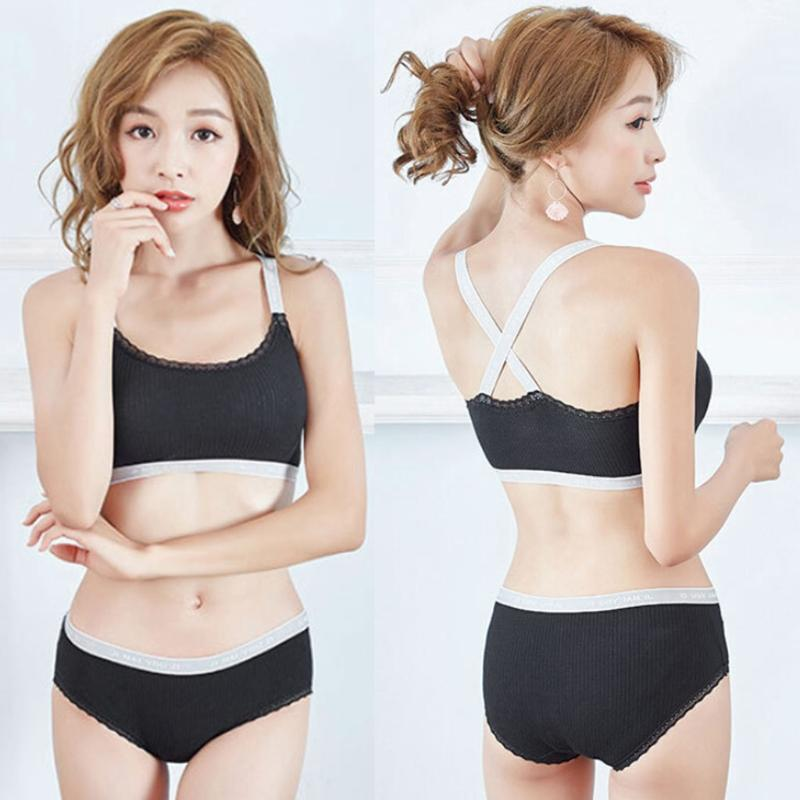 662712b603c4d 2019 Women Exercise Fitness Yoga Sports Bra Set Cross Back Letter Print  Underwear New From Modleline