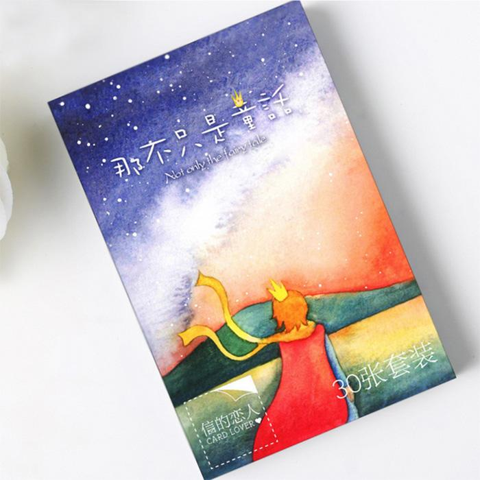 Wholesale Pack Creative Not Only Fairy Tale Greeting Card Postcard Birthday Gift Set Message Cheap Cards Christmas From