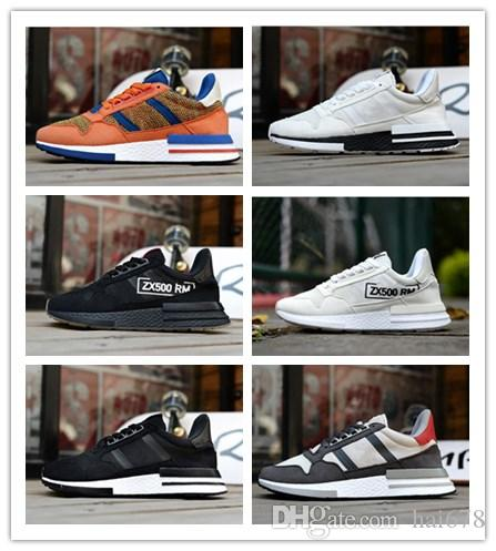 d4d5bc5a9ef 2018 New ZX 500 RM Goku Men Sneakers D97046 ZX500 OG The Dragon Ball Z Grey  Jogging Shoes Size 36 45 Canada 2019 From Hai678