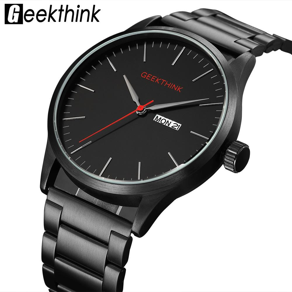 6e3fcea387e9 Compre Negro Acero Casual Japón Cuarzo Relojes Hombre Moda Negocio Marca De  Lujo Hombre Reloj Hombre Fecha Reloj Analógico A  31.96 Del Beasy110