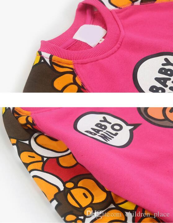 Wholesale Retail Children Clothing Toddler Boy Spirng Autumn Graphics Sweatshirt Boys Pullover Long Sleeve Sport Casual Jersey