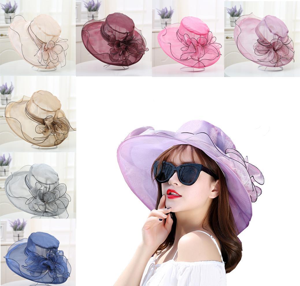 b61b5604c66 Princess Hats Lady Sun Hats Organza Wide Brim Hats for Girls Beautiful Euro Styles  Wide Brim Hats Princess Hats Sun Hats Online with  8.72 Piece on ...