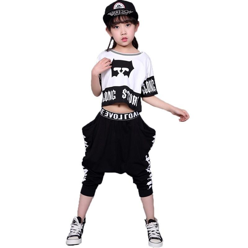 39e5efe3b Children's Streetwear Fashion Set Suits Kids Clothing Hip Hop Dance Sets  For Girls And Boys Jazz Clothing Costumes Sets Kid Suit