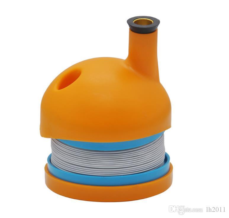 Nuevo tipo de fumar en el comercio exterior conjunto plástico plegable y plegado tubo en forma de oruga para viajar titular de cigarrillo portátil