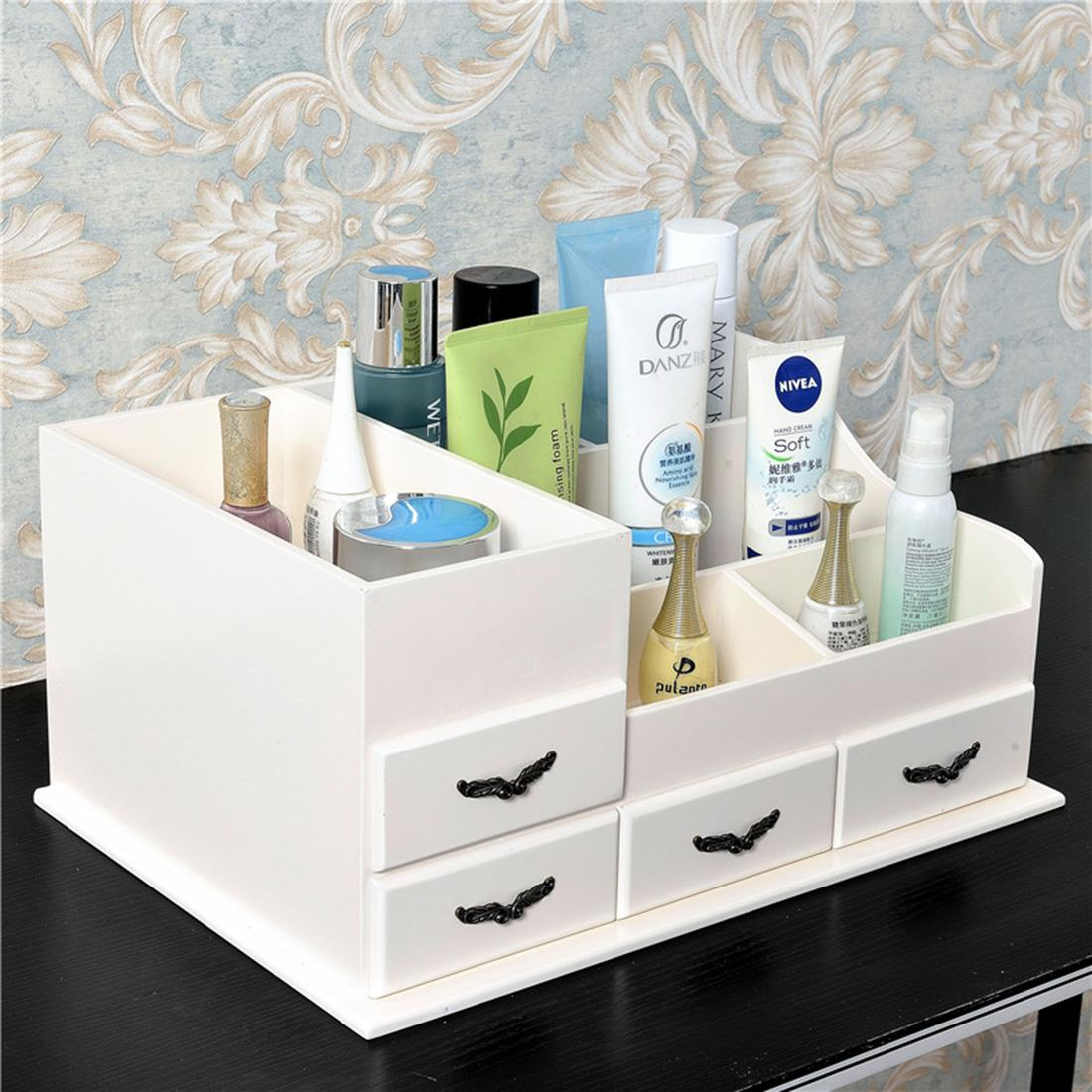 2018 Creative Wood Make Up Organizer Storage Box Cosmetic Organizer Makeup  Storage Drawers Organization Rangement Maquillage 11 Style From Chenjong,  ...