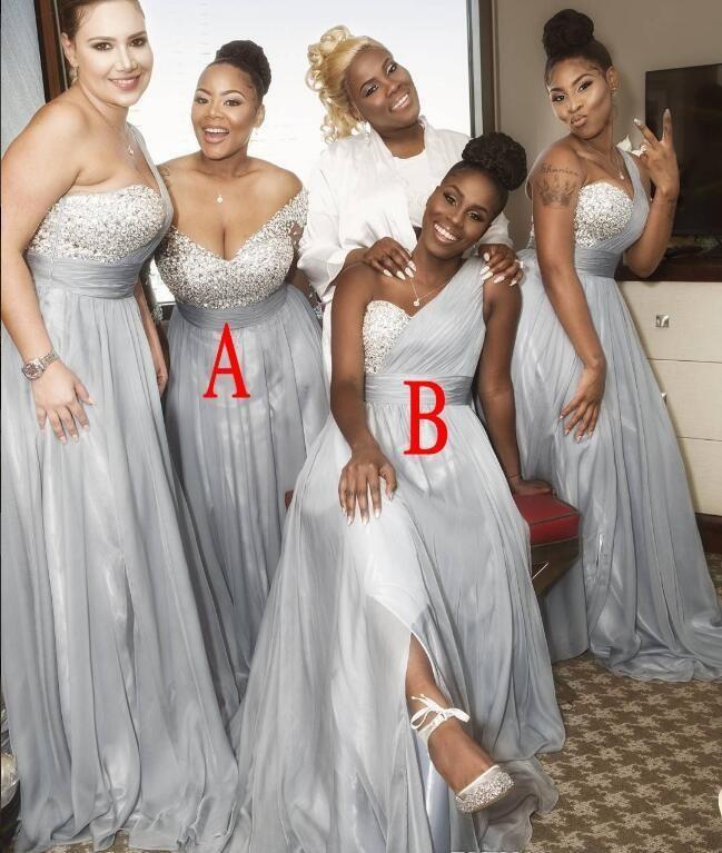 2018 Summer Spring Bridesmaid Dress Chiffon African