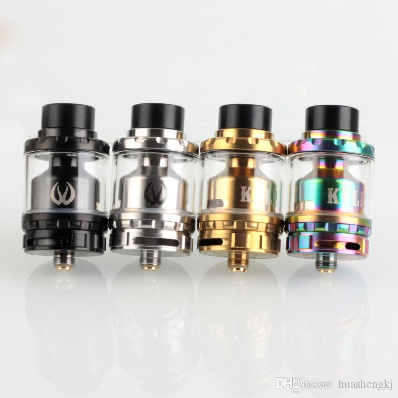 Newest Kylin RTA Gold Rainbow 2ml with 6ml Extended Glassl Rebuidable Tank Atomizer Vape Tank Vaporizer High Quality Clone Hot Sale DHL free