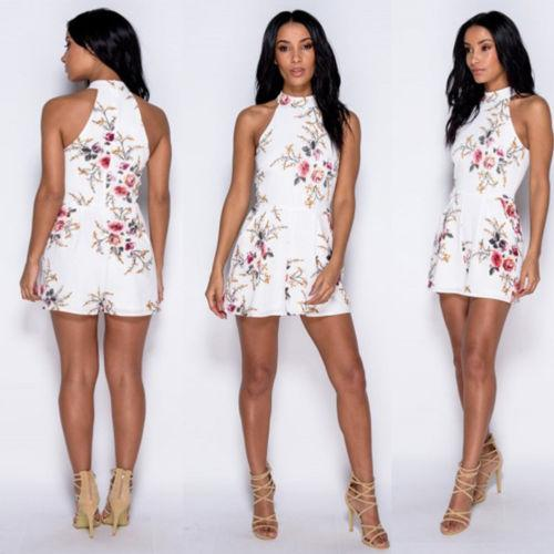 3e1a91381505 2019 Floral Print Random Self Tie Cami Romper 2018 New Holiday Spaghetti  Strap Women Rompers Summer Beach Loose Playsuits From Hongxigua