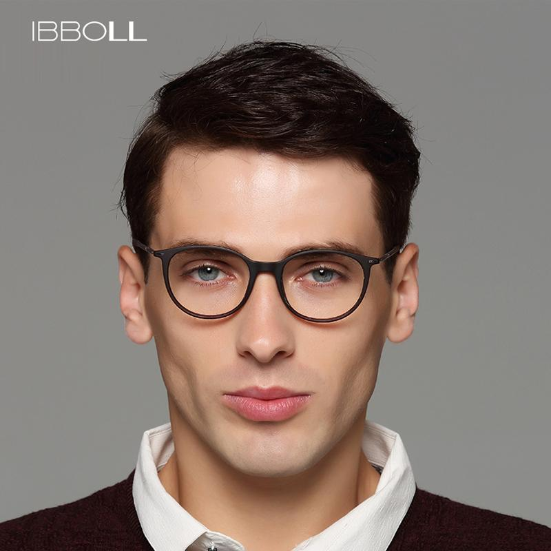3f1b2c7af78 2019 Ibboll Luxury Top Brand Mens Glasses Frame Optical Round Eyeglasses  Frames Men Transparent Eyewear Spectacles Frames Male S6077 From  Tiebanshao