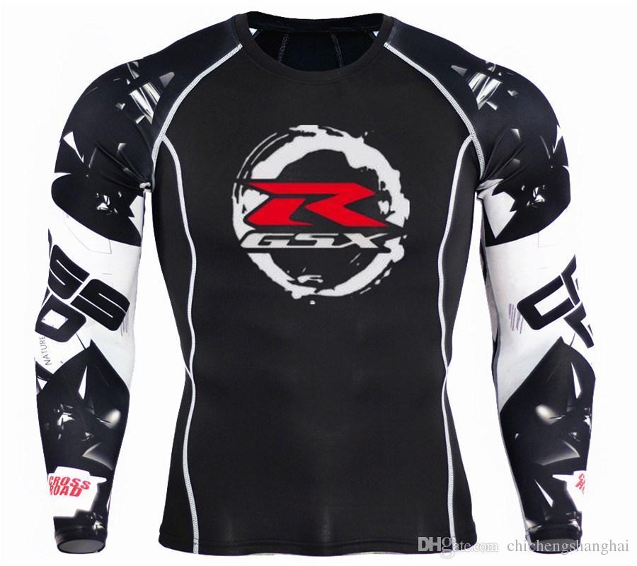 Acheter Moto SUZUKI R GSXSUZUKI R GSX Imprimé T Shirt Compression Chemises  3D Teen Wolf Jerseys Hommes Manches Longues Tshirt Fitness MMA De  18.28 Du  ... a42c5337122