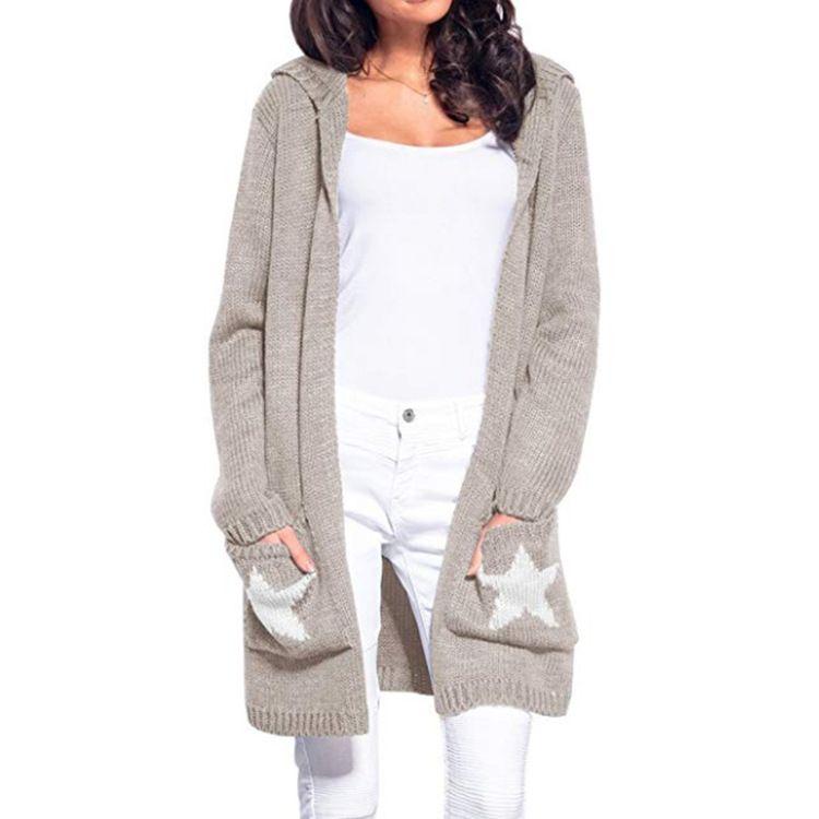 finest selection 558e5 da0b6 LOGAMI Lange Strickjacke Damen Langarm Strickpullover Cardigans Herbst  Winter Damen Pullover 2018 Jersey Mujer Invierno