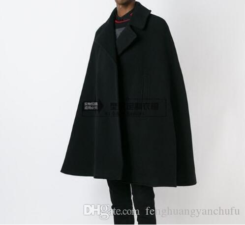 8a8d7369855d Customize Style New Fashion Men Cape Coat Loose Long Woollen Overcoat  Woolen Cloth Thick Coat Autumn Winter Clothing Online with $165.27/Piece on  ...