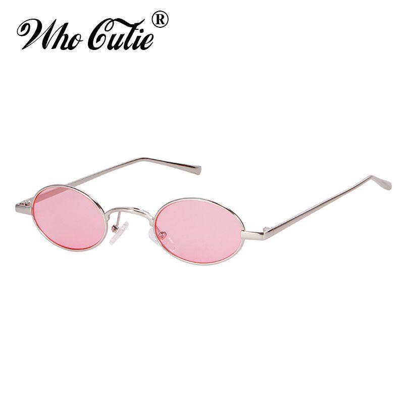 203ef5f8df2fe Compre OMS CUTIE Do Vintage Pequeno Redondo Rosa Óculos De Sol Das Mulheres  Dos Homens 2018 Marca Designer 90 S Retro Fino Magro Minúsculo Óculos De Sol  ...
