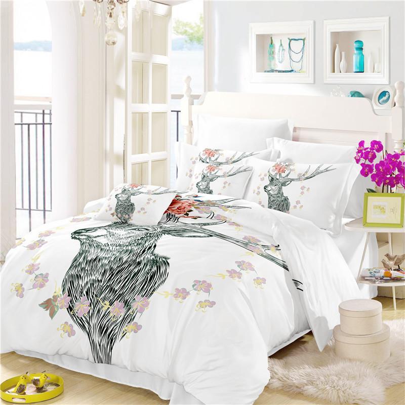 Acheter Dreamcatcher Home Literie Ensemble Floral Moose Housse De