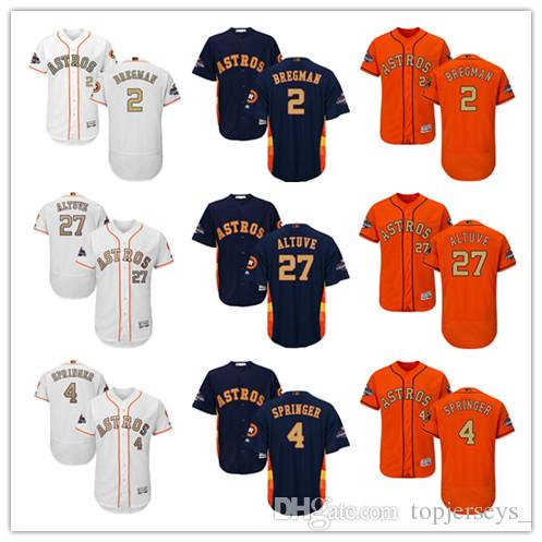 2d0c98051 Men Majestic Astros Jersey  4 George Springer 2 Alex Bregman 27 Jose ...