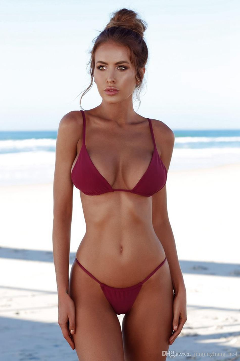 Women Swimwear Set Swimsuit Bikini Push-up Padded Top Bottom Set Padded Bra Swimsuit Swimwear Bathing Suit LJJO4139