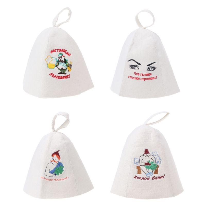 0fa776436 Bathroom Accessories Wool Felt Sauna Hat Anti Heat Russian Banya Cap For  Bath House Head Protection
