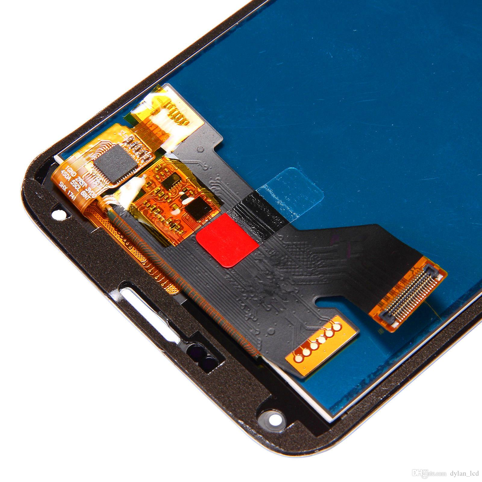 Lcd G900 Samsung Galaxy S5 LCD SM-G900 SM-G900F G900 Display LCD Touch Screen Digitizer Assembly copia Luce regolabile