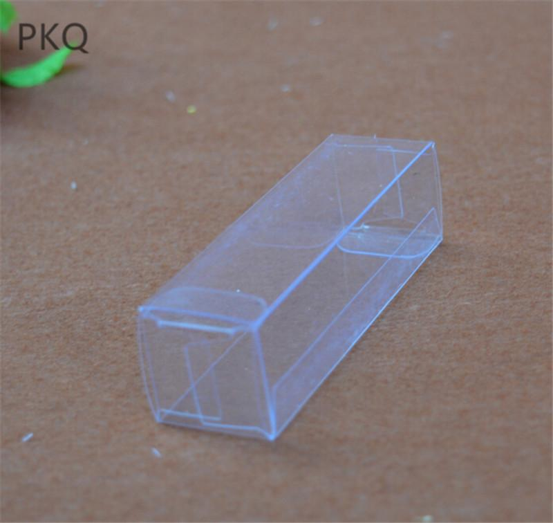 3 5x3 5x10cm Plastic Pvc Transparent Box Small Clear Gift Box For Chocolate Halloween Wedding Favors Candy Boxes 50pcs Lot