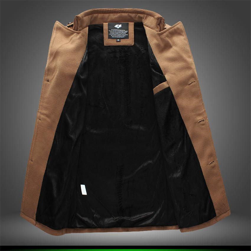 2017 New Winter Jacket Men Wool Blends Brand Men Suits Dress Jackets Men Casual Long Thicken Wool Coat Warm Male Clothing