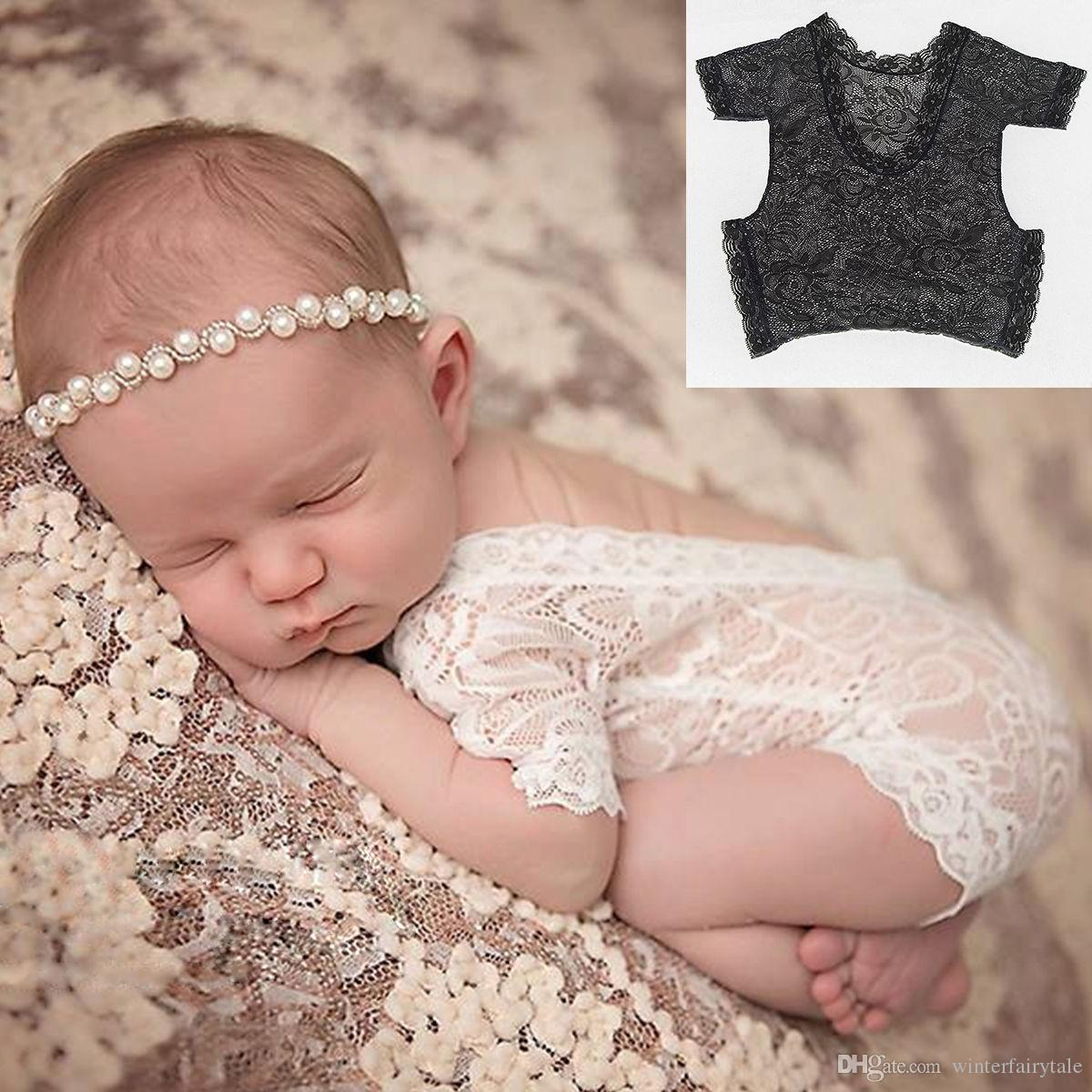2018 newborn baby photography lace jumpsuit baby girl cute petti jumpsuit baby toddler photo clothing soft lace tights 0 3 m from winterfairytale