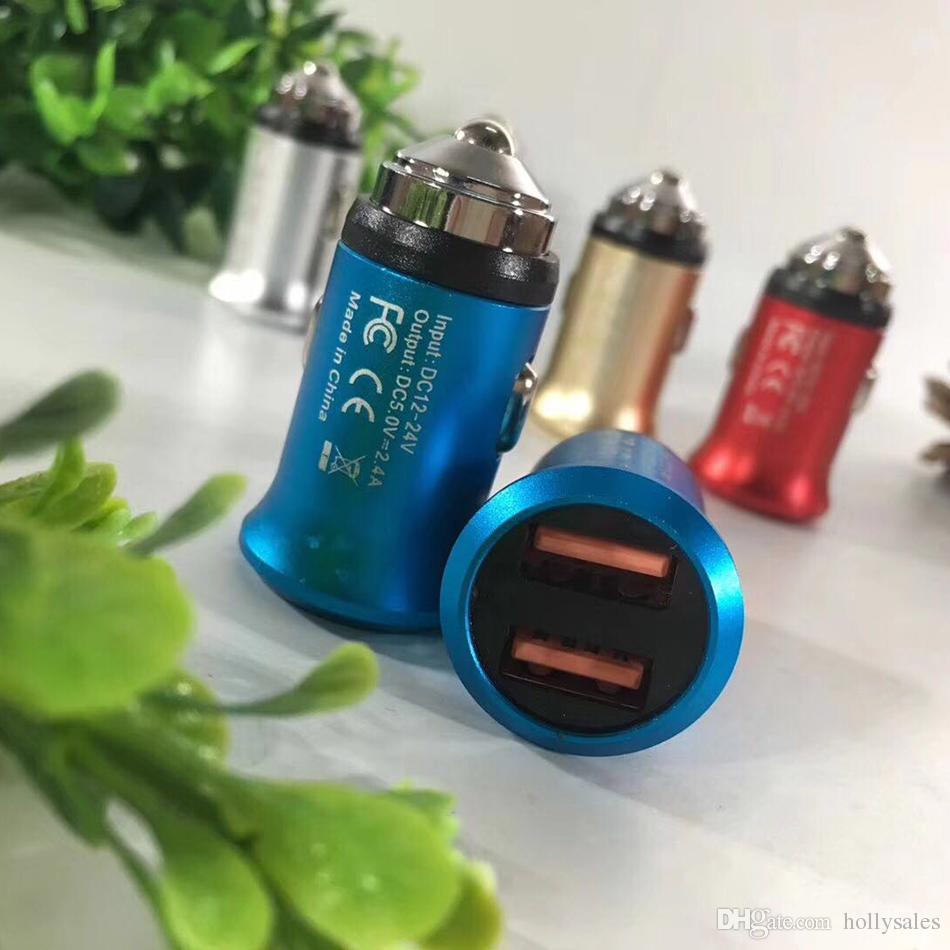 USB 충전 5v 2.4A 듀얼 2 포트 자동차 충전기 porwer 어댑터 12V 24v DC 자동차 여행 어댑터 삼성 s9 플러스 참고 8 iphone 7 8 더하기 x