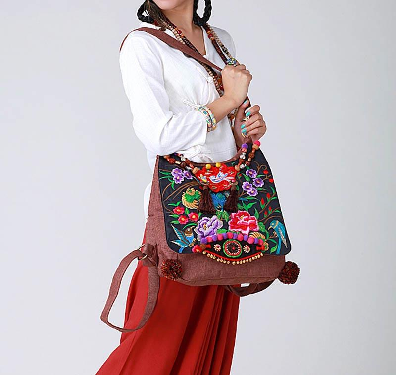 f43504f5baf 100% Handmade Handbag Purse Shoulder Sling Bag - Fine Oriental Embroidery  Art #136 Oriental bags - Free Shipping