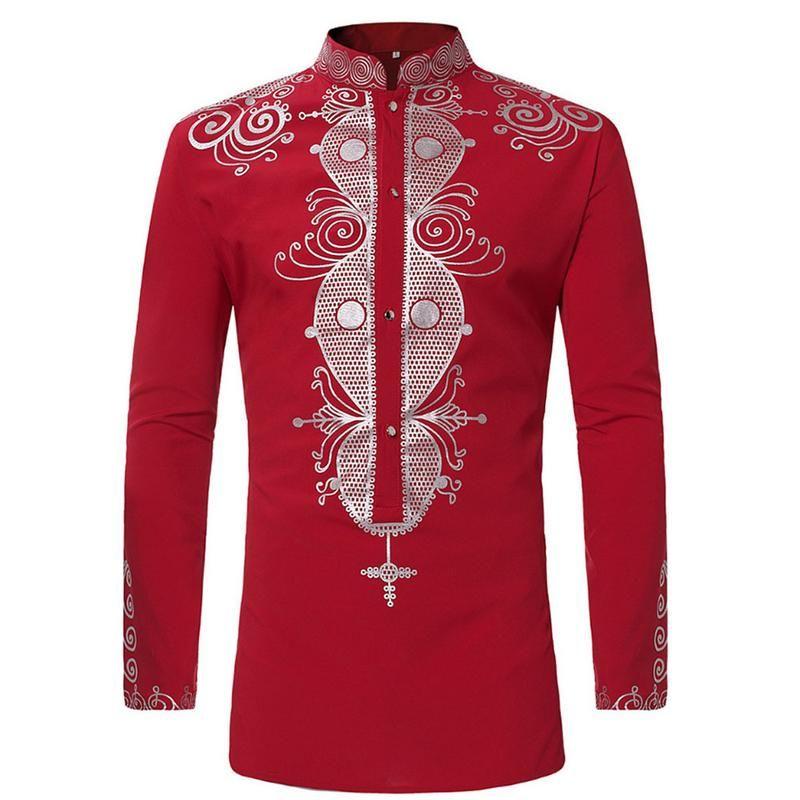233bebd644 2019 Mens Hipster African Print Dashiki Dress Shirt 2018 Brand New Tribal  Ethnic Shirt Men Long Sleeve Shirts Africa Clothing Camisa From Sadlyric