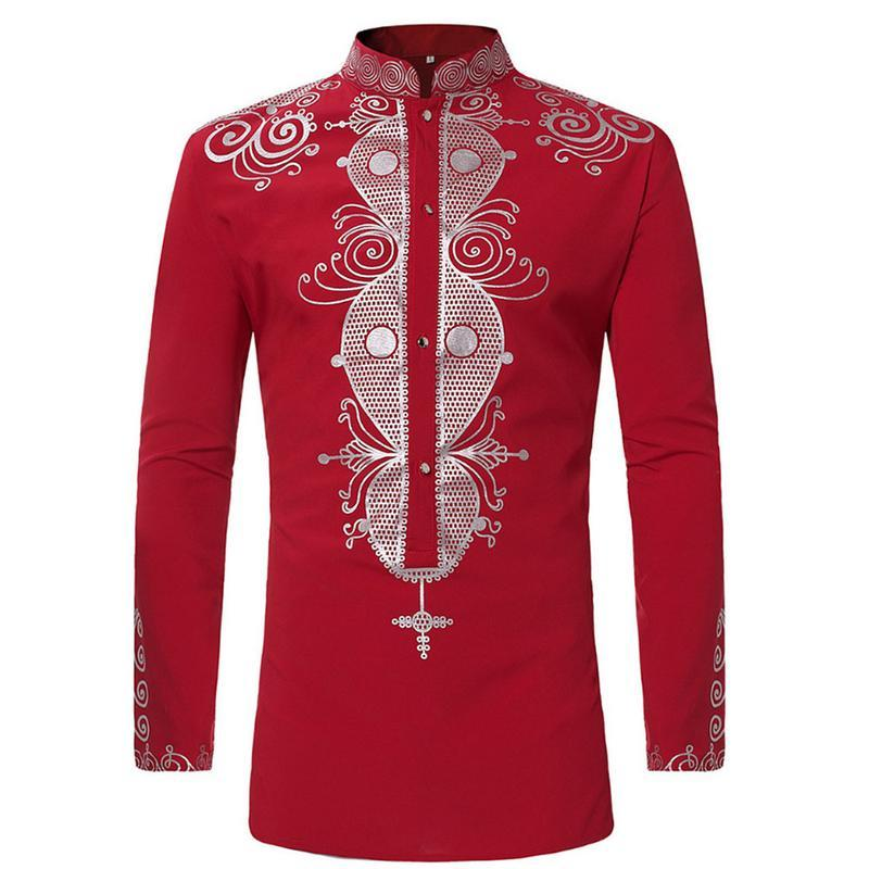 Großhandel Mens Hipster African Print Dashiki Kleid Hemd 2018 Marke New  Tribal Ethnic Shirt Männer Langarmshirts Afrika Kleidung Camisa Von  Sadlyric, ... 3830b39e94