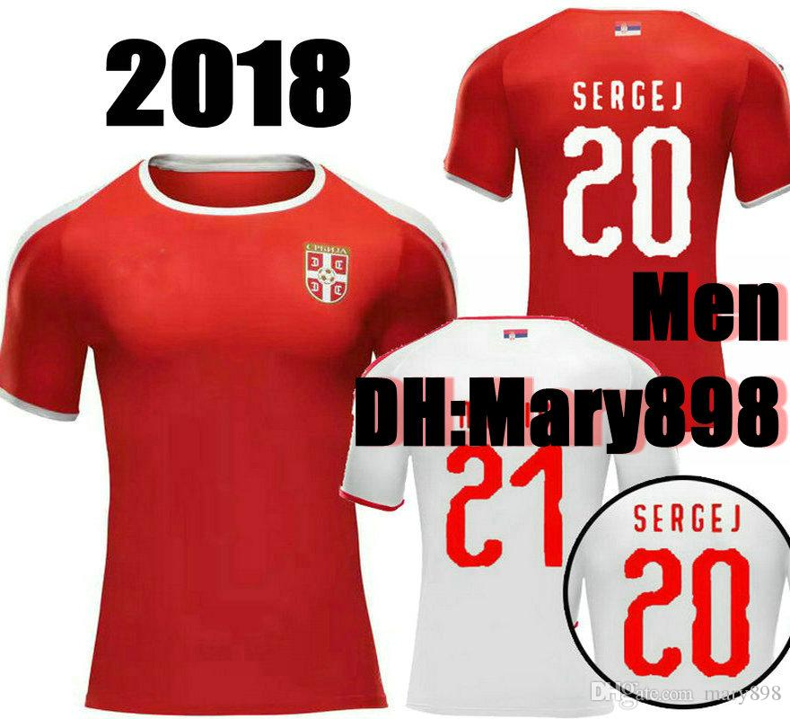 719f37c94 Top Thai Quality 2018 World Cup Serbia Soccer Jersey TADIC MITROVIC ...
