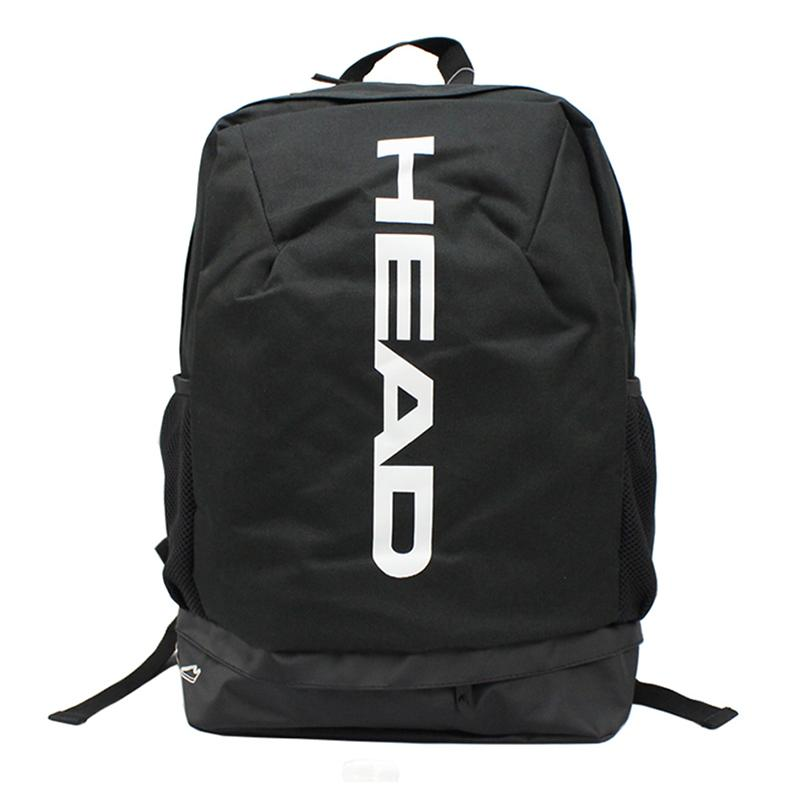 Adults Tennis Backpack Head Professional Outdoor Sports Bag Can Hold 1-2 Rackets With Breathable Independent Shoes Bag
