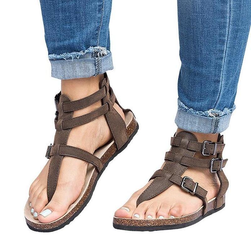 2018 Summer Sandals Women Casual Shoes Female Rome Gladiator Sandals Women  Flat Buckle Feminina Sandalias Mujer Sandals Womens Sandals Sandals for  Women ... ea9abacdd728