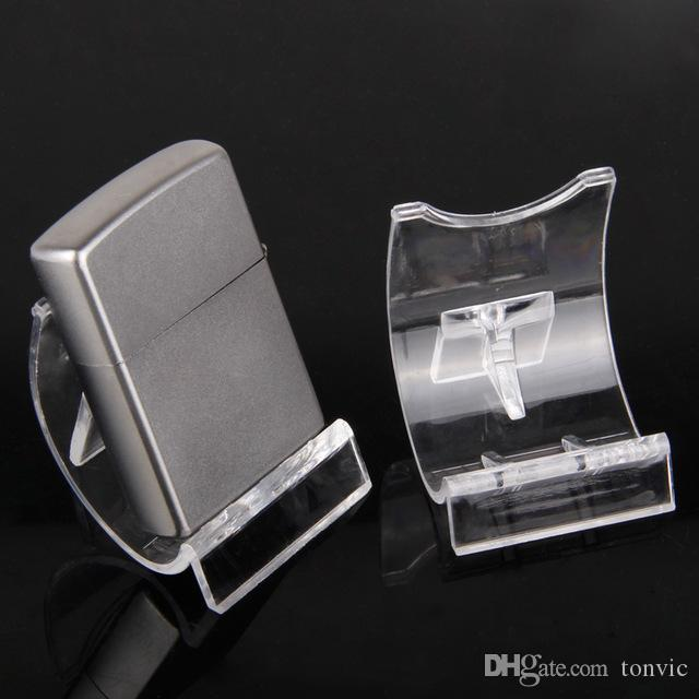 Tonvic Оптовой 20шт акрилового Clear View Зажигалка Display Stand Holder MP4 / MP3 Стеллаж