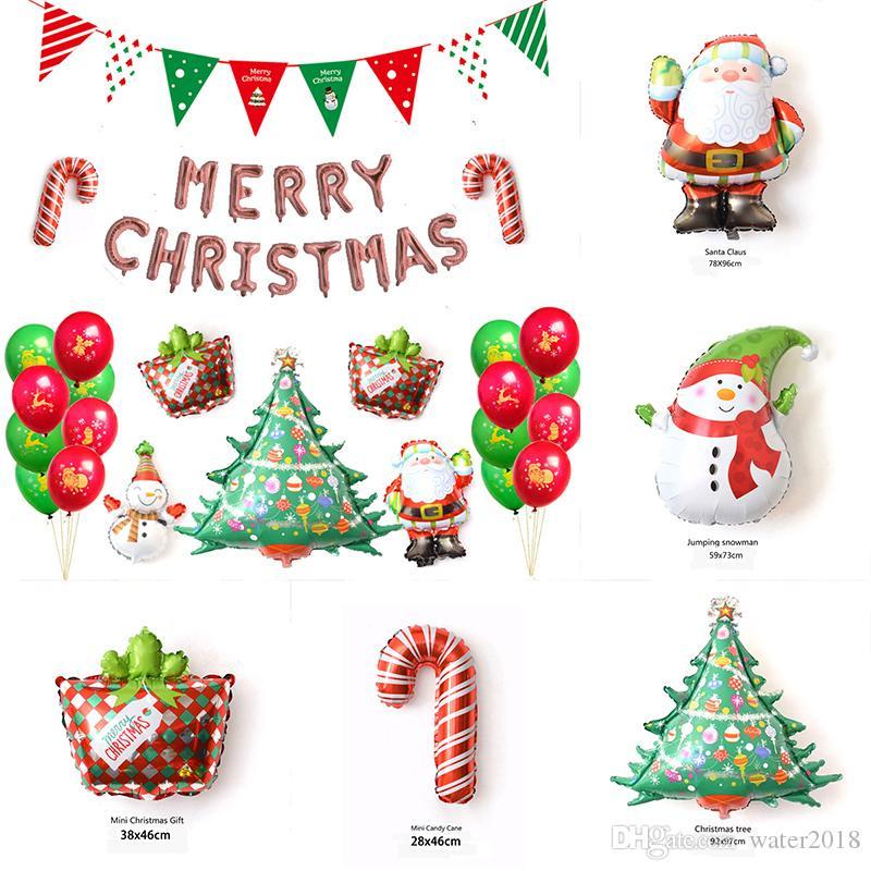 Compre Bandeiras De Natal Papai Noel Balão Set Floral Bunting Banners Feliz  Natal Decoração Casa Decoração De Festa Suprimentos Livre DHL 899 De  Water2018 4596a378887eb