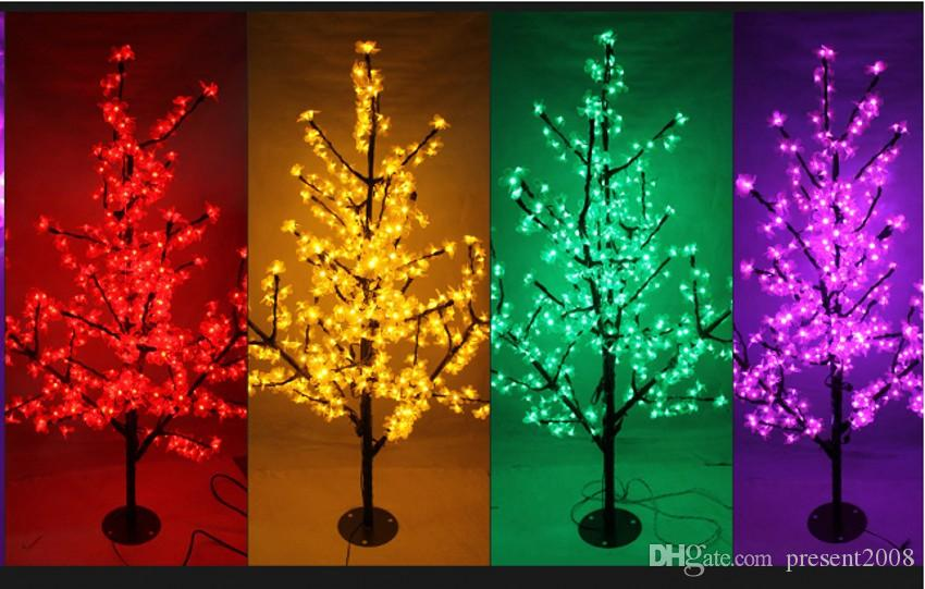 LED Christmas Light Cherry Blossom Tree LED Bulbs 1.5m/5ft Height Indoor or Outdoor Use Drop Shipping Rainproof