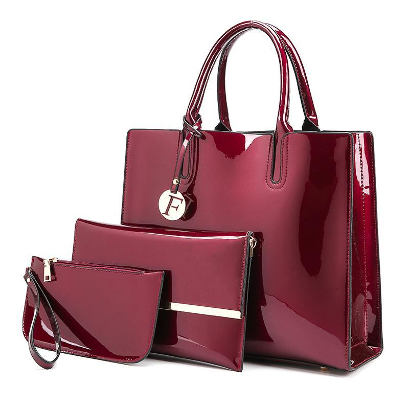 f5a5287df909 Luxury Patent Leather Handbags Women Bags Fashion Brand Designer Tote Bag  Ladies Handbags Vintage Female Shoulder Bags Bolsas Travel Purse Branded  Handbags ...