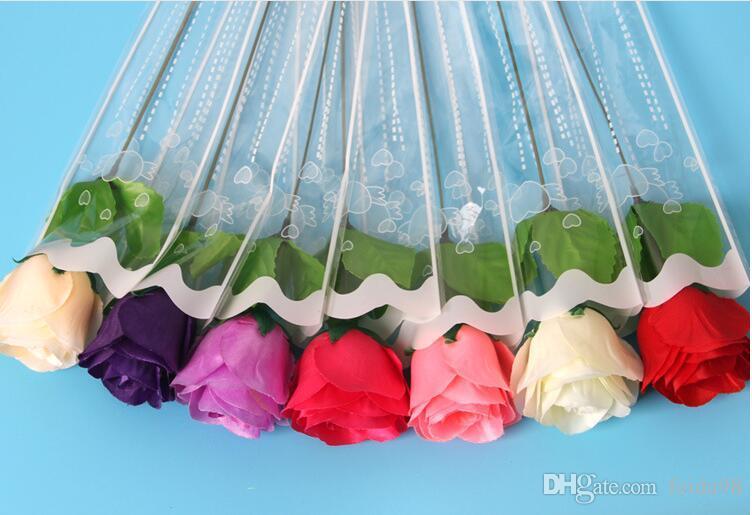 Моделирование одного слоя 5 Шелковый цветок любовник лепестки розы розы цветочные одиночные цветы на День святого Валентина розы