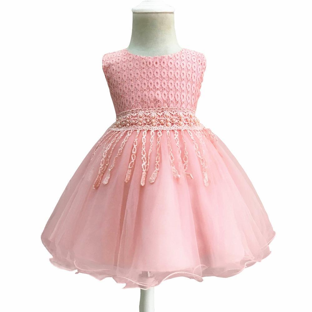 b195d33d07 Compre Vestidos Das Meninas 2018 Crianças Infantis Aniversário Baptismo  Tutu Vestido De Princesa Para O Bebê Roupas Menina 0 1 2 Anos Roupa Dos  Miúdos De ...