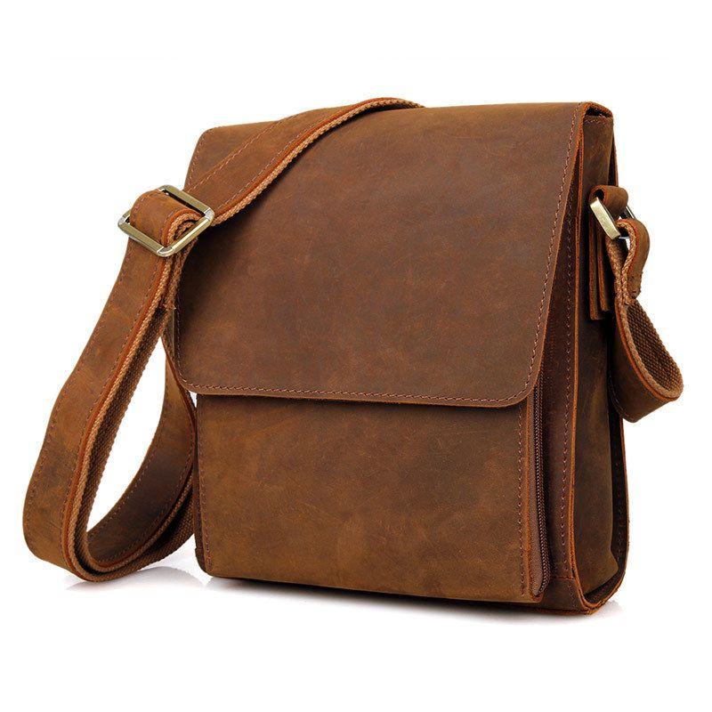 3a70fabda5e8 2018 Men S Business Bag Brand Leather Briefcase Male Fashion Shoulder Bags  Luxury Crazy Horse Leather Handbag Men Crossbody Bag Black Purses Handbags  From ...