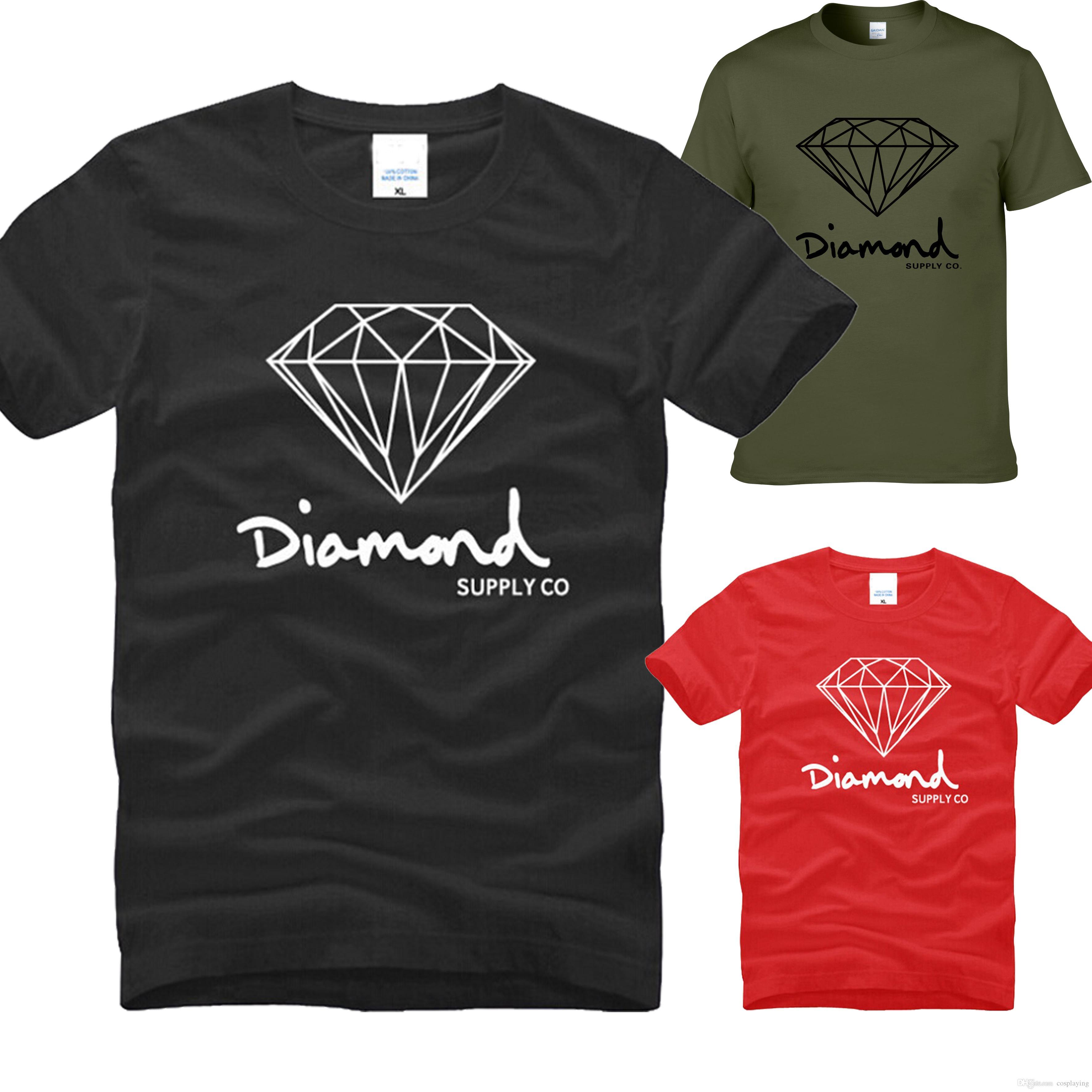 dd124b80bdeaa Compre Fornecimento De Diamante Co Impresso T Shirt Dos Homens Marca De  Moda Roupas De Design MAle South Coast Harajuku Skate Hip Hop Sportswear  Manga Curta ...