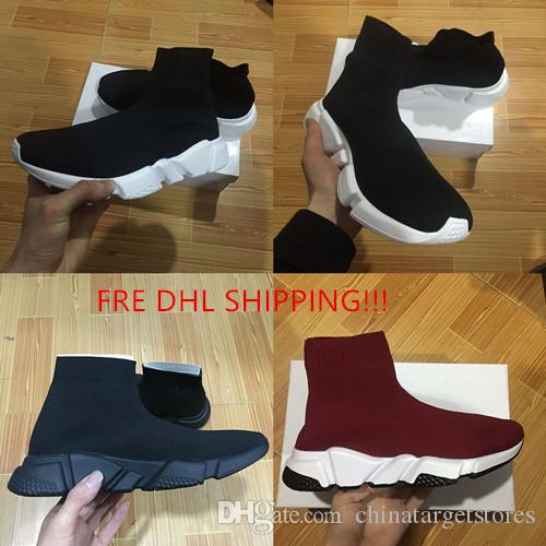 DHL Shipping With box Mens and Womens Casual Shoes Zoom Slip-on Speed Trainer Low Mercurial XI Black High Fashion help Socks shoes Sneakers free shipping high quality E75qH