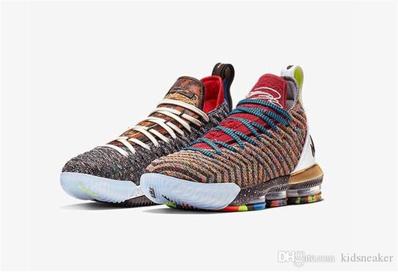 Lebron 16 What The Basketball Shoes Multi Color Colorful Bq6580 900