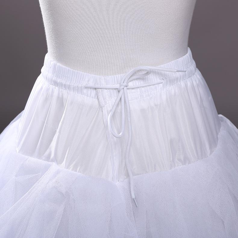 4 katmanlar Tül Sıcak Jüpon Kayma Düğün Aksesuarları Için Chemise Çemberler Olmadan Gelinlik Petticoat Kabarık Etek