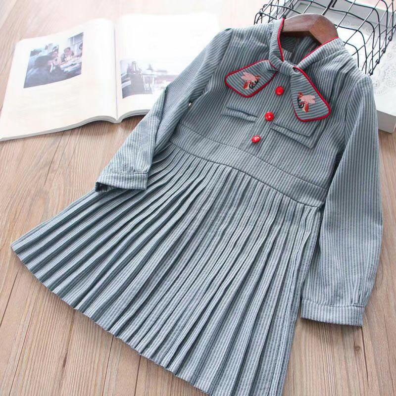 31fe8a1c4f 2019 2019 Kids Girl Denim Dresses Baby Girl Fashion Ruffles Girl Dress  Striped Long Sleeve Kids Dress Children Clothing From Ywbaby