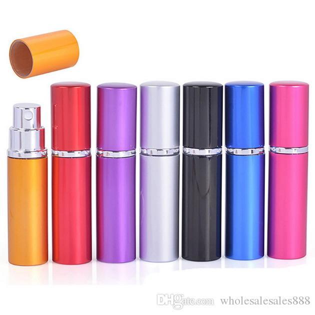500 ADET / GRUP 6 ml Mini Taşınabilir Doldurulabilir Parfüm Atomizer Renkli Sprey Şişe Boş Parfüm Şişeleri ücretsiz kargo