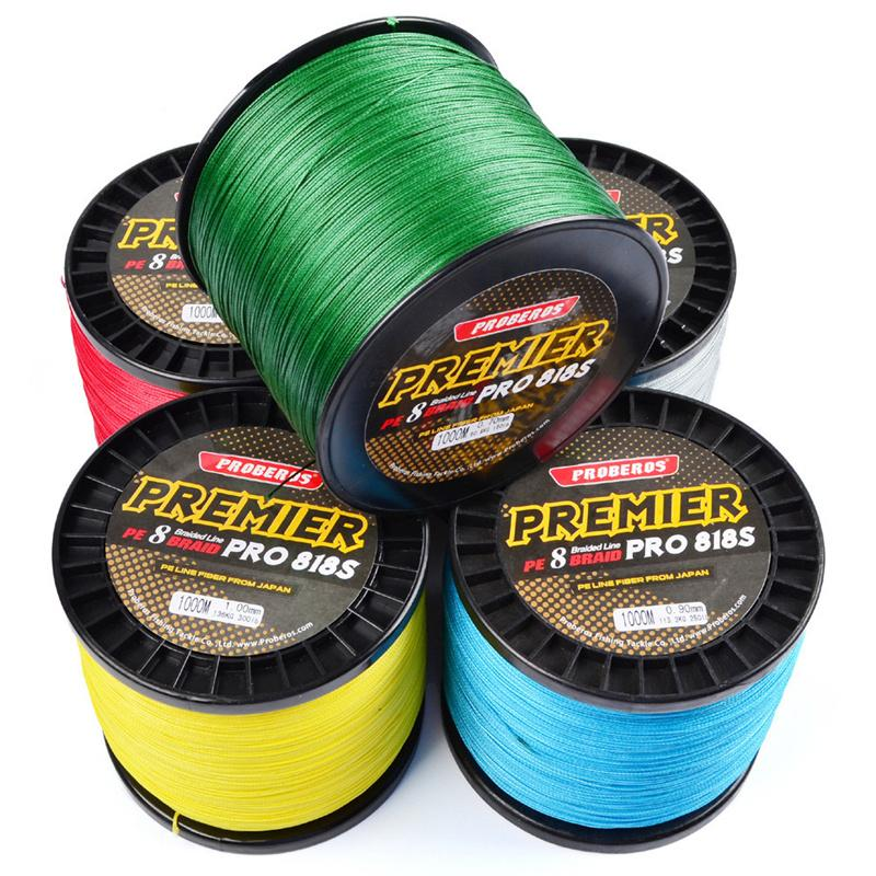 1000m Super Strong Japan Fishing lines 8R Strands PE Braided Wire 1000m 50lb~300lb Test Weightkg 22.6-136kg